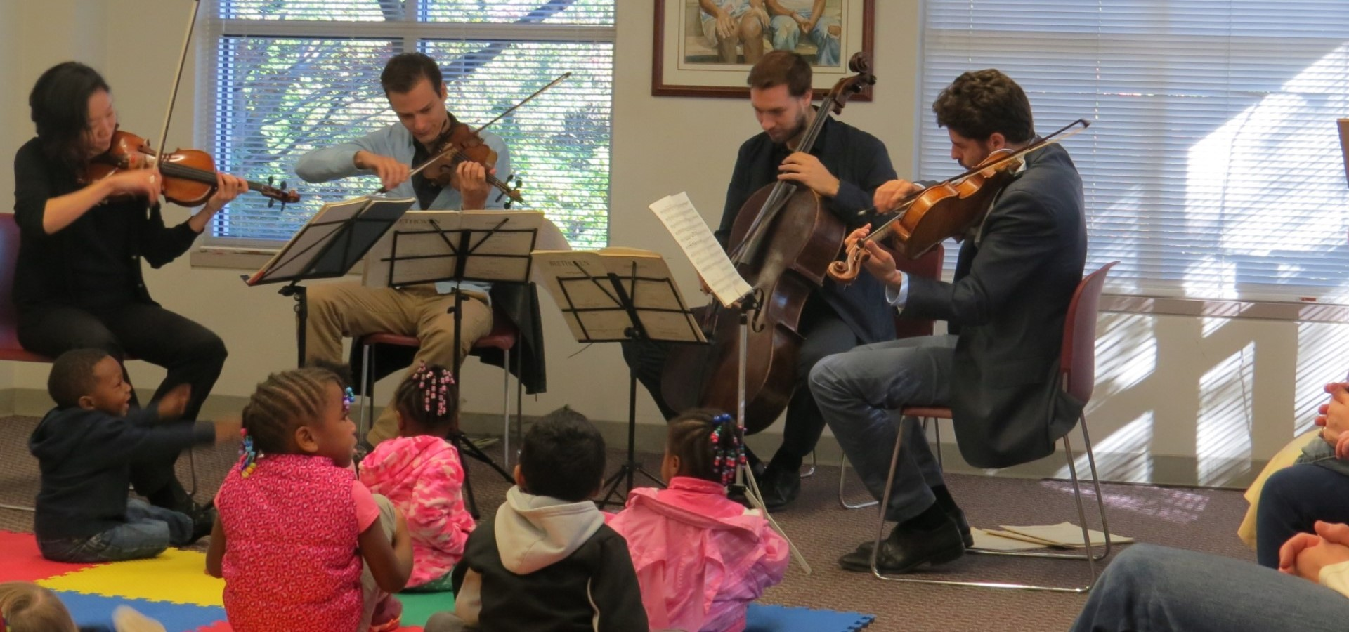 Tesla Quartet performing at Library